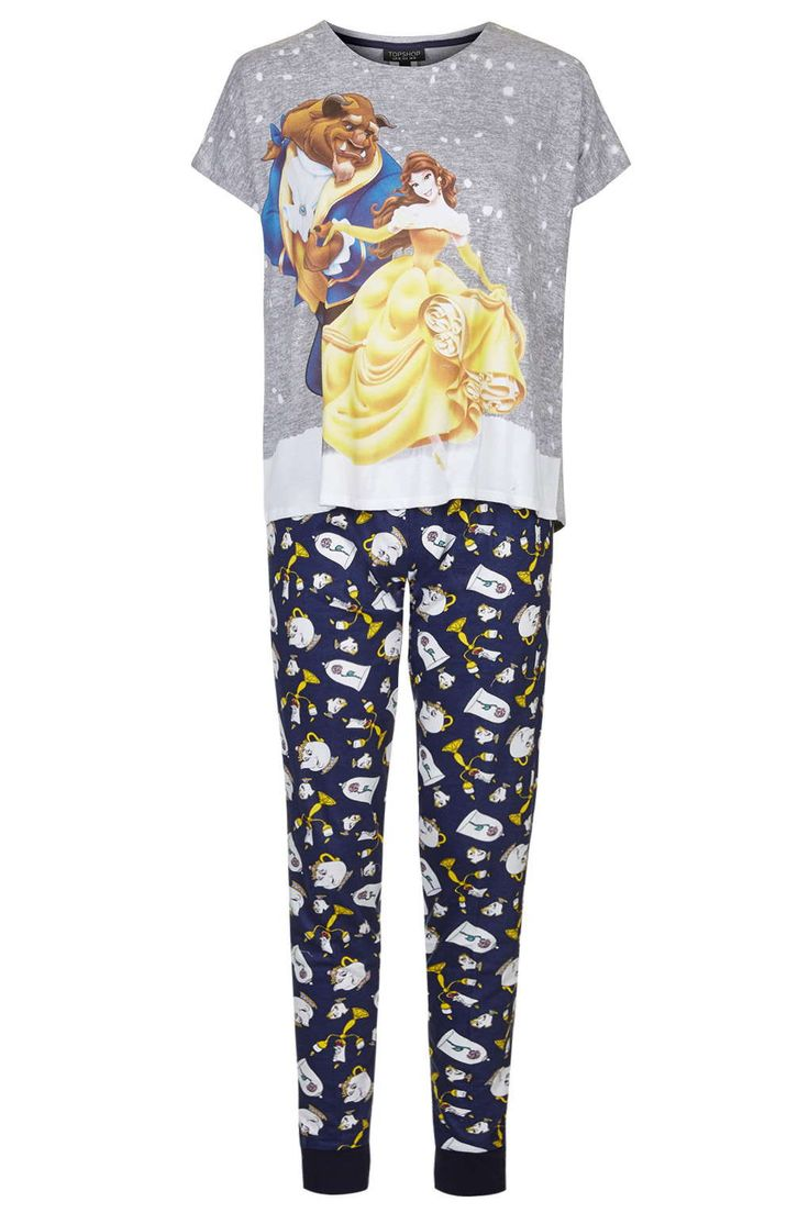 Beauty and The Beast Pyjama Set - Nightwear - Clothing - Topshop