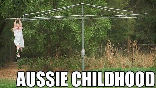 Typical Aussie childhood.