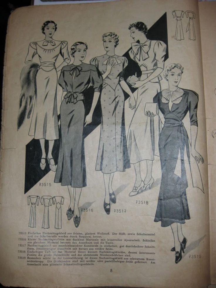 German fashion magazines (1939 und 1940) -Mode im Bild, Sept 1939