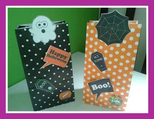 Halloween Souvenir Bolsitas Personalizadas + Libro Colorear - $ 7,00
