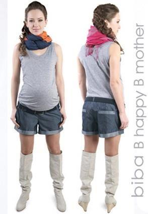 Джинсовые шорты для беременных купить