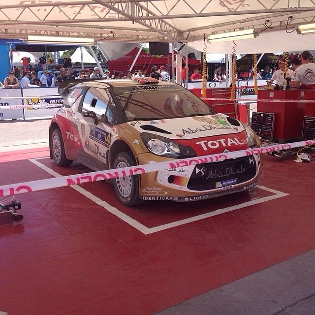 Mads Østberg's car in the Servicepark. Rally Mexico 2014