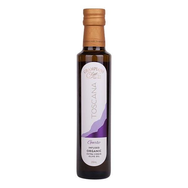 Garlic Infused Organic Extra Virgin Olive Oil - Toscana Grampians Olive Co.