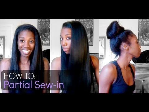 How To | Partial Sew-in - Outre Velvet Brazilian Remi Yaki - YouTube