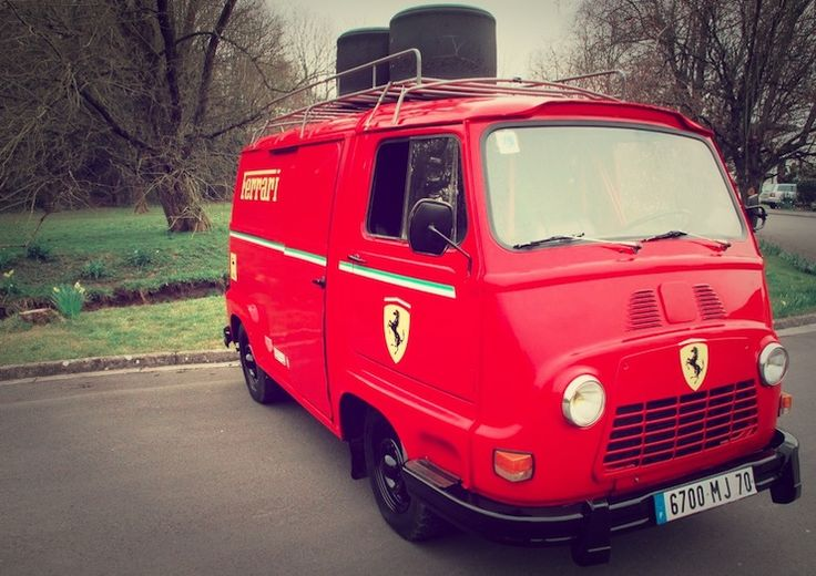 "This beautiful 1979 Renault Estafette was bought by the production team for the upcoming Formula One film ""Rush"" and reworked into a flawless replica of an original Renault Estafette van, used by the Ferrari team during the reign of Niki Lauda. Before being turned into every F1 fans perfect campervan, the Estafette had been used..."