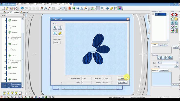 5D Embroidery - Lezione nr 5 - Creiamo un fiore