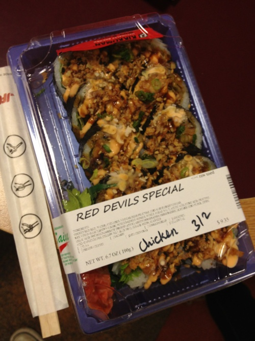 Red Devils Special sushi at The Underground | Dickinson College (Photo by POS)