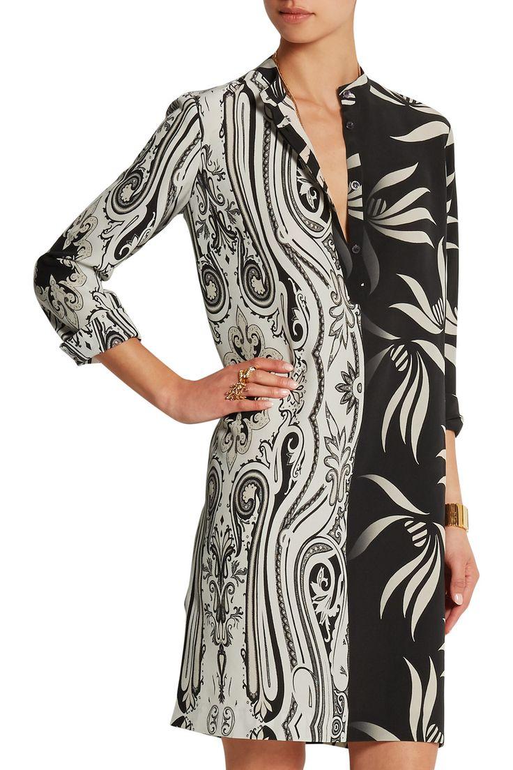 EtroPrinted silk crepe de chine mini dressfront