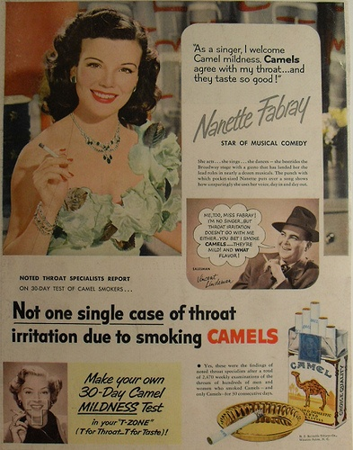 1940s Camel Cigarettes Advertisement Vintage Hollywood Actress Nanette Fabray by Christian Montone, via Flickr