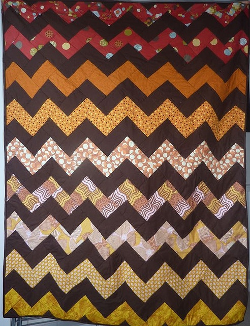 quilt I made from Crazy Mom Quilts: http://beesquarefabrics.blogspot.com/2009/03/how-to-make-zig-zag-quilt-without.html