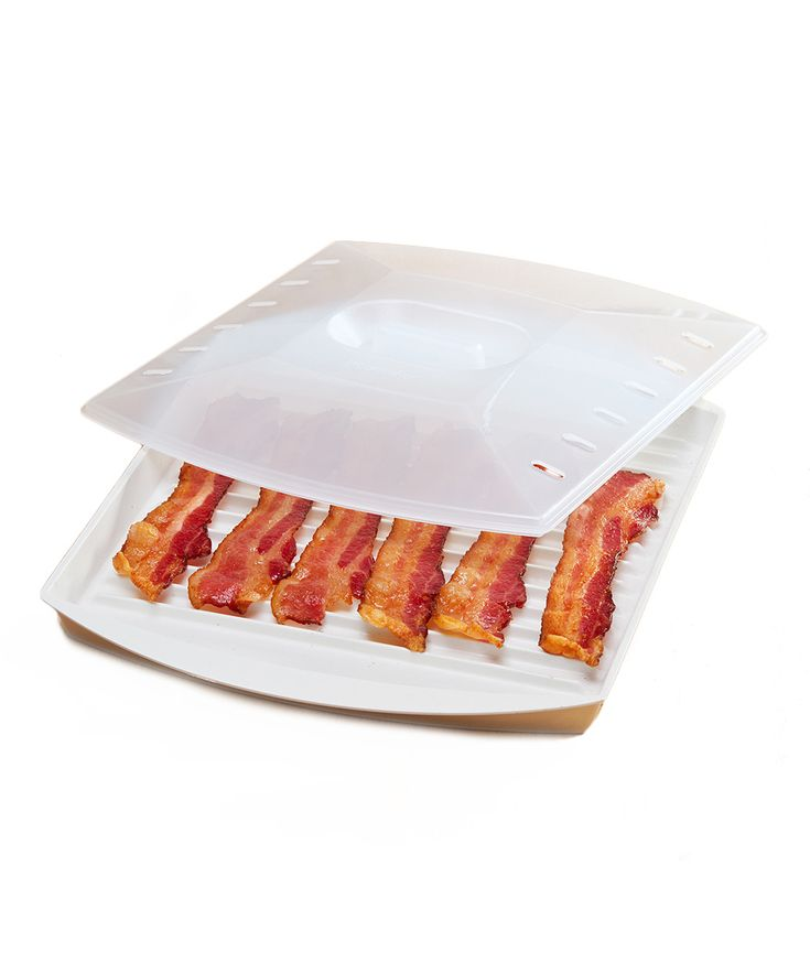 PrepSolutions Large Bacon Tray & Lid | The lid is a great idea.  No more splatter in the microwave.