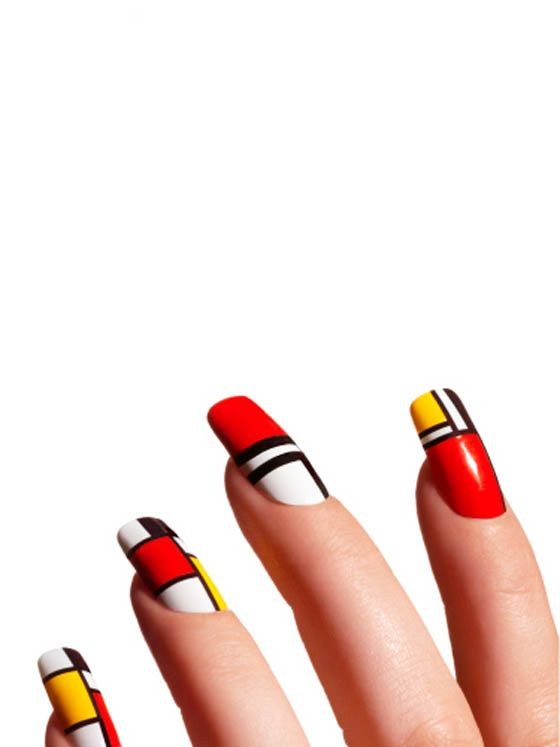 mondrian nailsModern Nails, Nails Art, Nailart Nails, Beautiful Nails, Nails Design, Makeup Artists, Summer Nails, Mondrian Nails, Nail Art