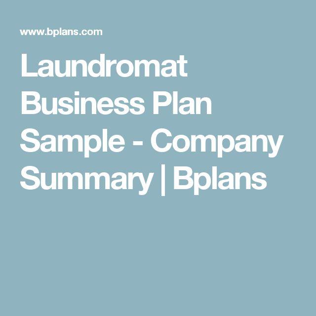 Laundromat Business Plan Sample - Company Summary   Bplans