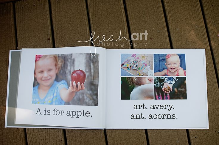 A-Z in photos. awesome idea!! want to make a book for Christmas. too cute.
