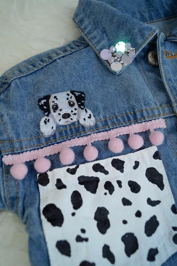 Childs Dalmatian Denim Dog Gender Girls Haircut