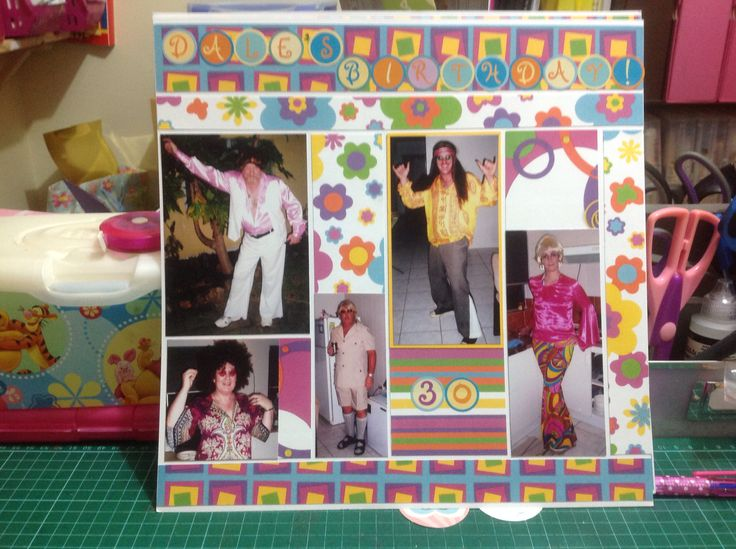 Dale's birthday scrapbook page part 1