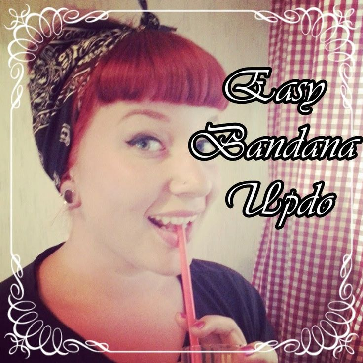 Quick and easy bandana updo