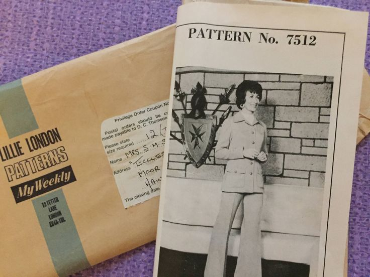 1970's Ladies Trouser Suit from Lillie London Patterns - Size 12 by StitchinVintage on Etsy
