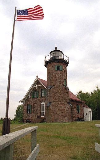 Sand Island Lighthouse, Wisconsin at Lighthousefriends.com