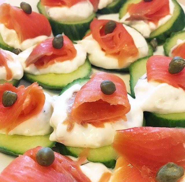 Summer Cucumber Salmon Bites  http://openhartz.com/home/2017/6/12/summer-cucumber-salmon-bites