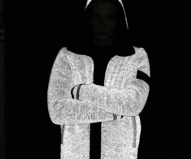 Fancy - Fully Reflective Jacket by Stone Island... Perfect for night cyclists... Hate to see a cyclist at night without  reflectors....