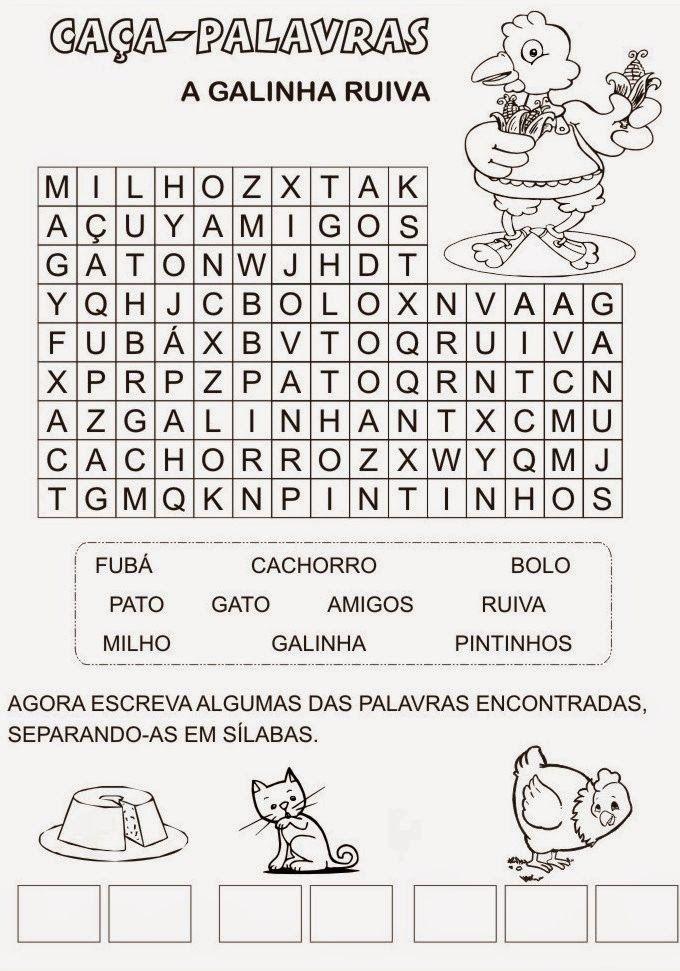 UNIVERSO PEDAGOGIA: Conto/história para Educação Infantil: A galinha ruiva + Atividades para colorir
