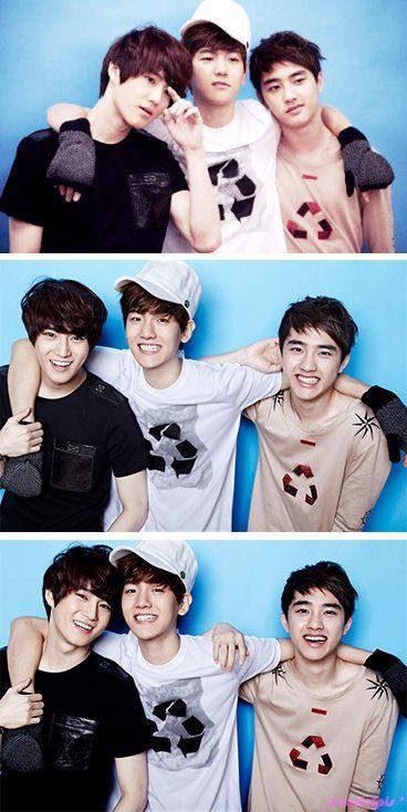 EXO-K Baek Hyun, D.O and Suho - Oh Boy! Magazine Vol.32