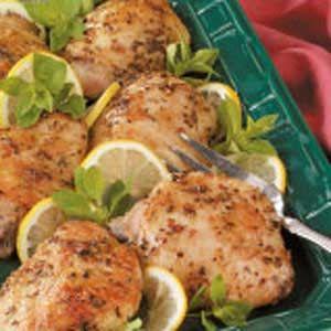 Made this tonight for Chris - loved it. super easy! Oregano-Lemon Chicken  Recipe