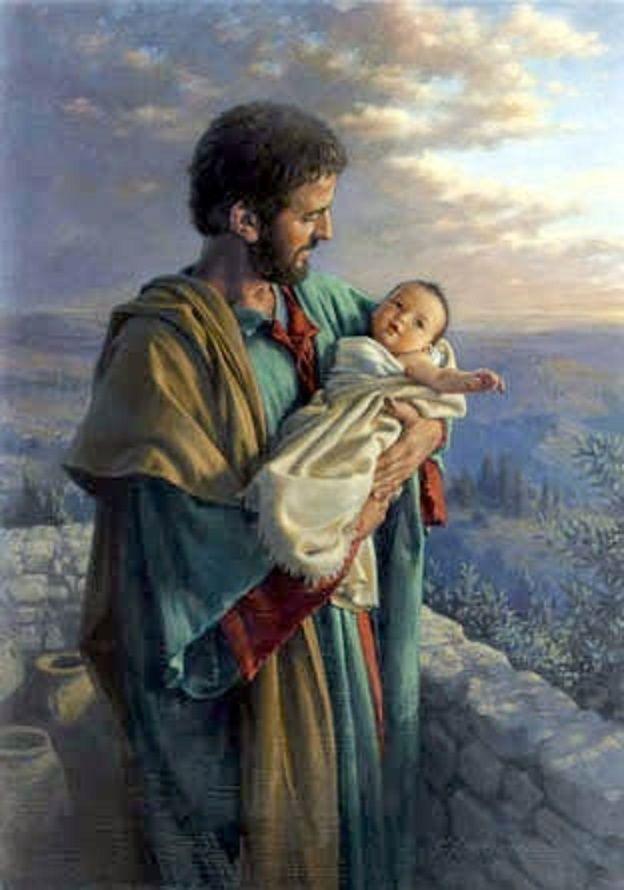 Joseph with the baby Jesus - Luke 2:21