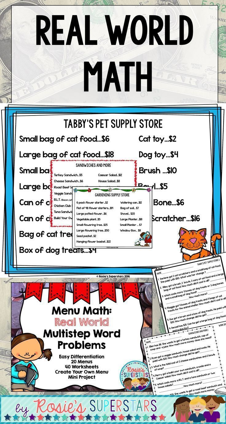Menu Math Real World Multistep Word Problems Project Distance Learning Multi Step Word Problems Word Problems Word Problem Worksheets [ 1380 x 736 Pixel ]