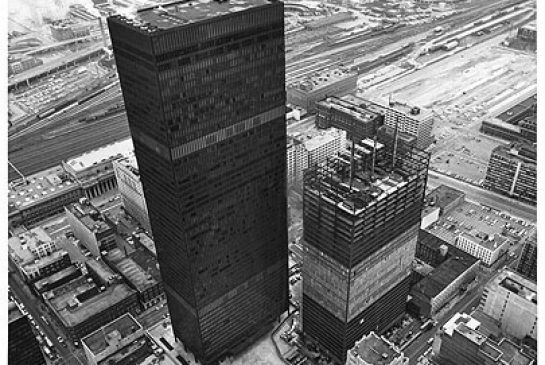 The construction of the Toronto-Dominion Centre, designed by Ludwig Mies van der Rohe, began in 1965. It is still a remarkable achievement.