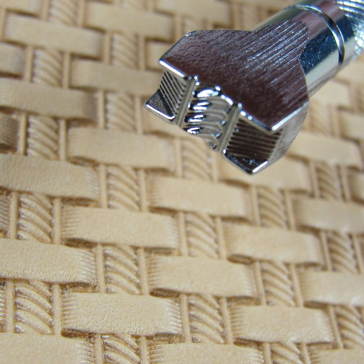 #X570-1 Braid Basket Weave Stamp Japan Select Leather Stamping Tool
