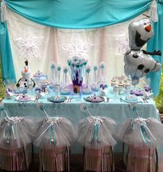 2014 Halloween Frozen Party Table - Disney Snowflake,  Diy Decors