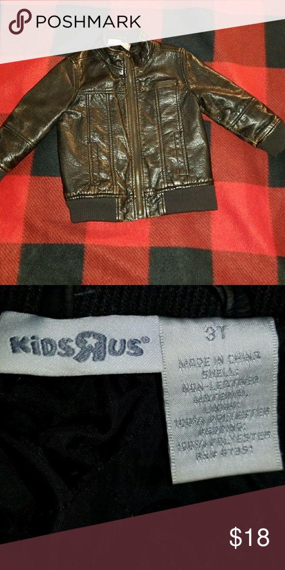 Black bomber jacket kids Black distressed bomber jacket. 3t but runs a little bit big. kids r us Jackets & Coats