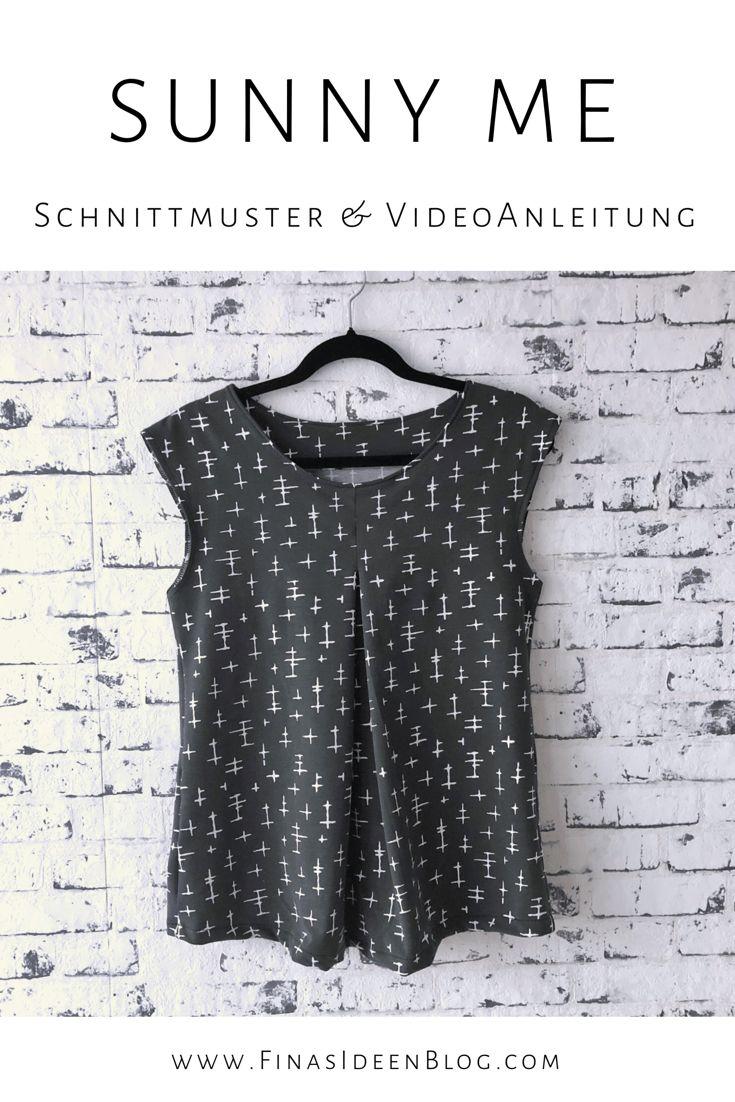 SunnyMe- mit meiner neuen Videoanleitung einfach ein zeitloses Shirt für den Sommer nähen