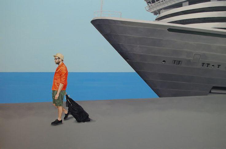 farewell, oil on canvas , 97.0 × 145.5cm , 2012