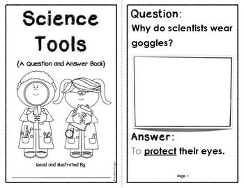 Science Tools  {A Question & Answer Early Science Reader}  6 student pages, $