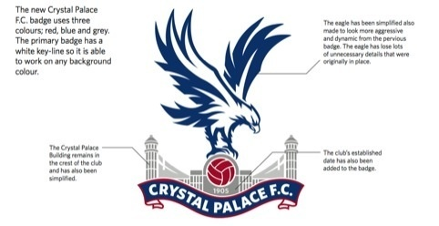 Crystal Palace Football Club has unveiled a new crest, which has been designed by fan Dan Mulcahy who has worked with the club's in-house design team.