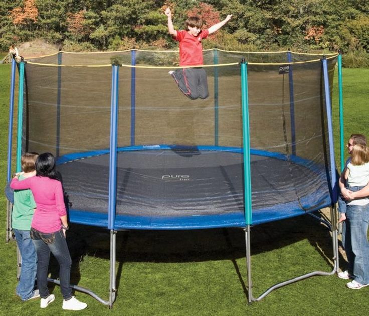 Pure Fun 15ft Trampoline with Enclosure