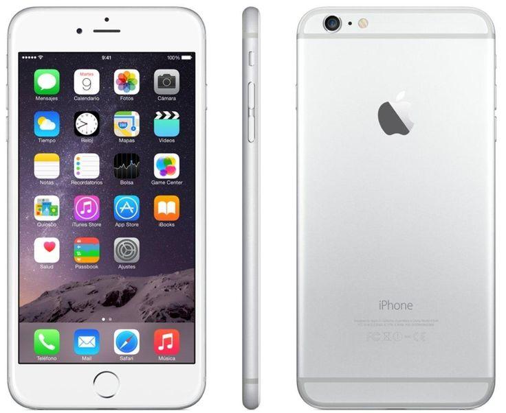 Móvil – Apple iPhone 6 Plus Plata de 16 GB, red 4G y 8 mpx.