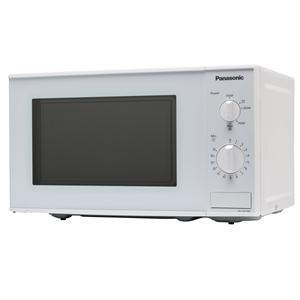 PANASONIC - NNE201W _ Micro-ondes Mono Fonction - 5 niveaux de puissance - Programmation mécanique - Minuterie 35 min - Plateau tournant Ø 25,5 cm - Cavité époxy.