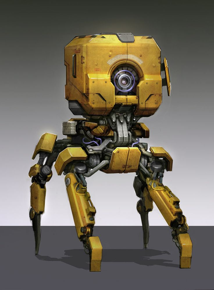 Yellow Bot, Sam Brown on ArtStation at http://www.artstation.com/artwork/yellow-bot
