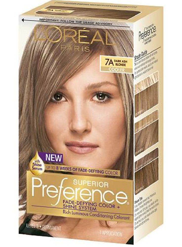 LOreal Hair color, Dark Ash Blonde is a long lasting color with superior shine. Description from ebay.com. I searched for this on bing.com/images