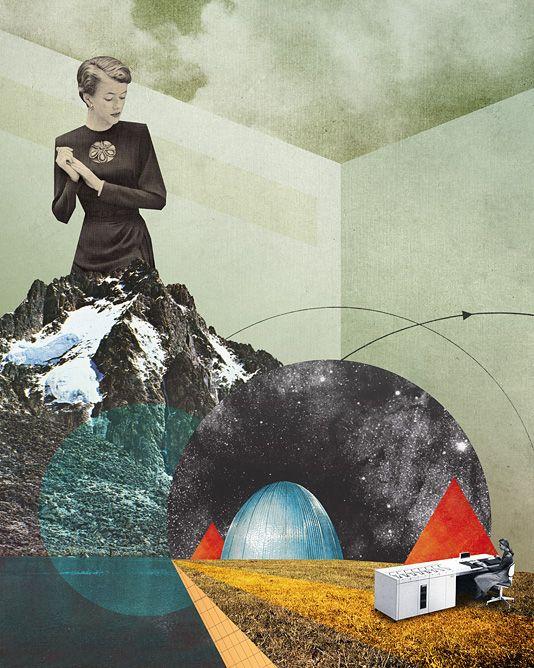 The Operator - Julien Pacaud • Illustration • Perpendicular Dreams