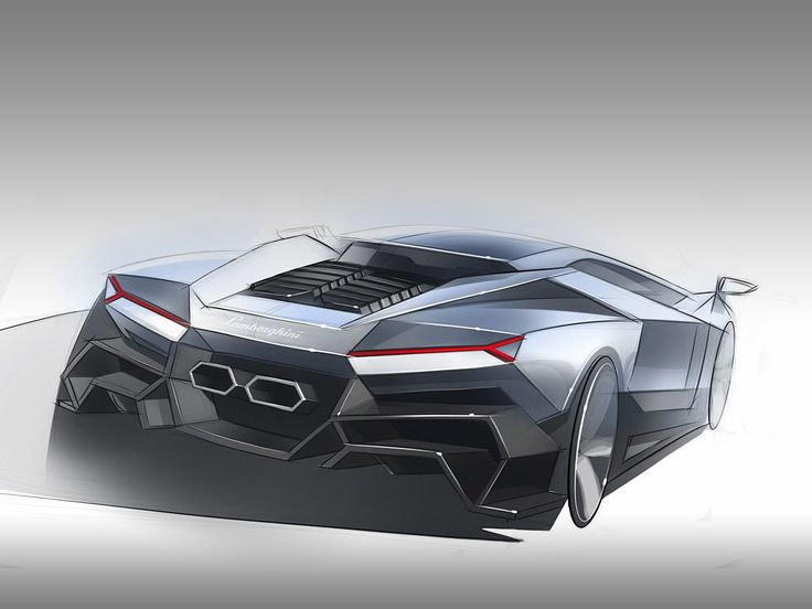 A look at the designs for a new lamborghini cnossos for Exterior design of car