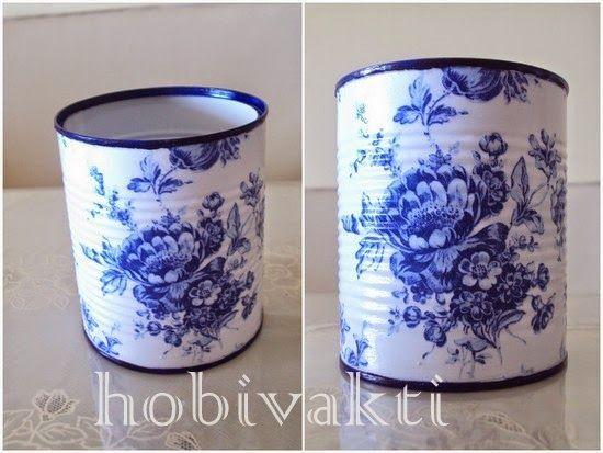 Reciclagem de latas ♥♥ Hobi Vakti ♥♥
