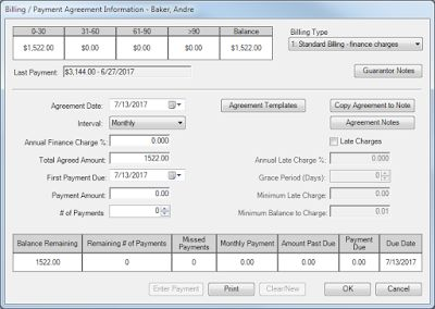 Setting up a Payment Agreement in Dentrix G6.4