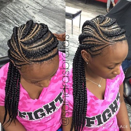 Image result for tiny ghana braids