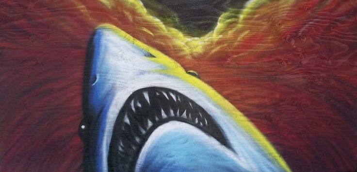 spray painting of a shark..  https://www.facebook.com/pages/Bango-Skank/360778760675199