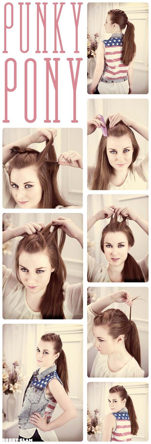 Punky Ponytail Hair Tutorial